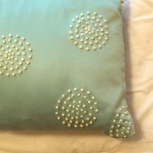 DKNY lumbar pillow turquoise hand-knotted design
